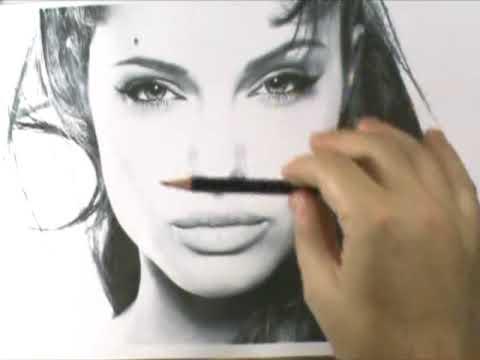 Curso de Desenho - Retrato Angelina Jolie