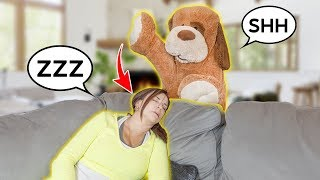 GIANT TEDDY BEAR IS ALIVE!! *PRANK On GRANDMA* | The Royalty Family