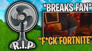 "Dellor BREAKS His FAN Because Of Fortnite *INSANE RAGE"" (Fortnite Funny & WTF Moments)"