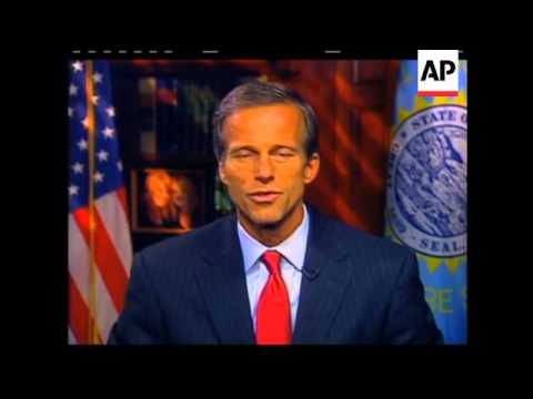 In the GOP's weekly radio and Internet address, Sen. John Thune of South Dakota contends that the De