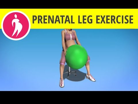 Inner Thighs Exercise For Pregnant Women: Pregnancy Fitness Ball Videos video