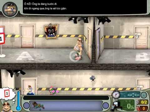 Neighbours From Hell 1 ( Người Hàng Xóm 1 ) - Màn 1 Tập 2 ( Game Việt Hóa )