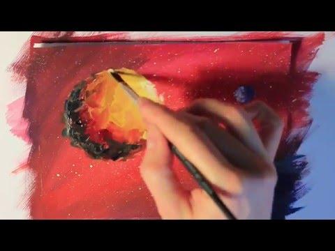 Видео урок Рисуем космос