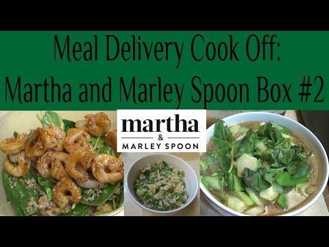 Meal Delivery Cook Off:  Martha & Marley Spoon Box #2