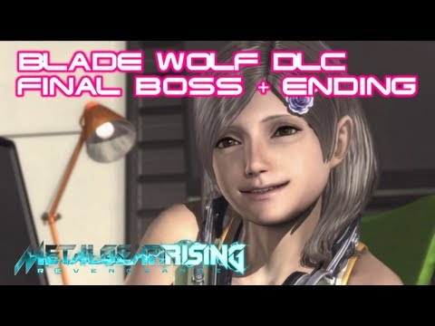 Metal Gear Rising: Revengeance - Blade Wolf DLC Walkthrough Boss Battle + ENDING [HD] (Xbox 360/PS3) - LQ-84i