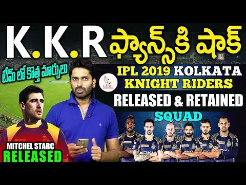 KKR IPL TEAM 2019 | Released & Retained Players | Sports News | Eagle Media Works