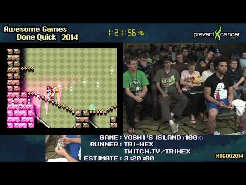 SMW2: Yoshi's Island :: SPEED RUN in 2:51:34 (100%) by tri hex #AGDQ 2014