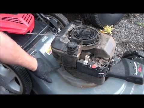 EASY! HOW TO FIX a Briggs and Stratton lawnmower STARTER PULL ROPE