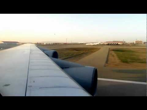 Iran Air Boeing 747-100 Take Off from Tehran, Iran - Window View