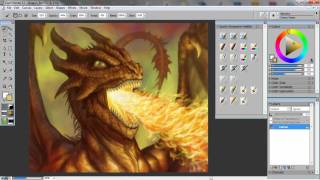 How to Draw and Paint a Fire-Breathing Dragon using Corel Painter & Wacom tablet