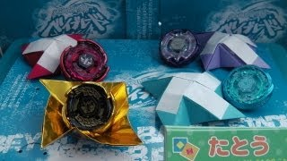 Beyblade Origami Art! 'orientation' With Decorative Beyblade Display