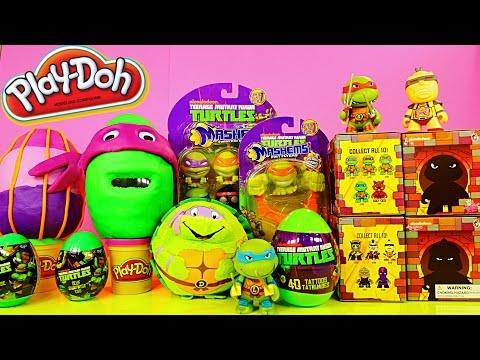 TMNT Play Doh Surprise Eggs Teenage Mutant Ninja Turtles Mashems Toys By Disney Cars Toy Club