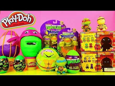 TMNT Play Doh Surprise Eggs Teenage Mutant Ninja Turtles Mashems Toys By Disney Cars Toy Club