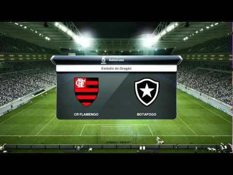 PES 2013 - Narrao em Portugus - Flamengo vs Botafogo - Melhores Momentos - PC