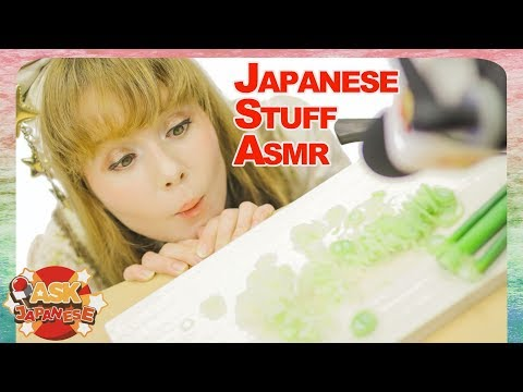 ASMR Challenge: Cutting Japanese leek with a wooden cutting board and a knife made in Japan
