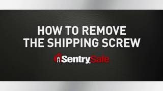 How to Remove the Shipping Screw on Your Sentry®Safe Fire Safe