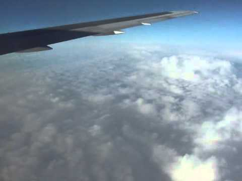 Vancouver-to-Tokyo (NRT) flight (Part 1: to Int'l Date Line over Bering Sea) 2012-02-10