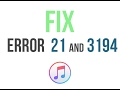 FIX ERROR 21 and 3194 [Very Fast and Easy ]