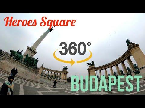 Heroes Square (Hősök tere) - 360 VR Tour in Budapest 4K