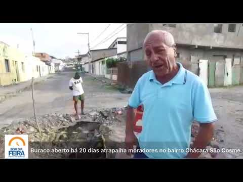 Buraco aberto há 20 dias atrapalha moradores no bairro Chácara São Cosme