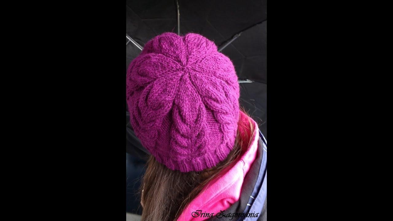Вязание шапочки женской с косами 7