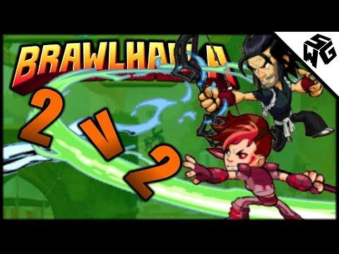 Friendly 2v2's w/ Koji and Ada! - Brawlhalla Gameplay :: Some Bow/Spear Practice
