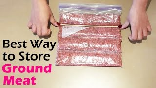 How to Store Ground Meat in the Freezer - Best Way!