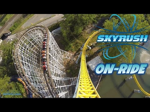 SkyRush On-ride Front Seat (HD POV) Hershey Park