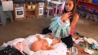 First Time Changing Full Body Silicone Baby Olivia
