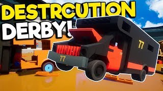 Extreme Lego RV Figure 8 & Derby in Brick Rigs Multiplayer!