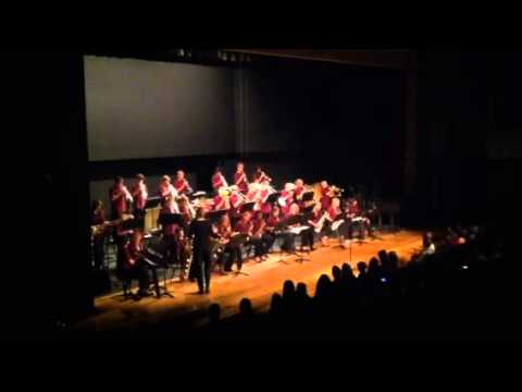 Altona middle school jazz band performing Sing Sing Sing