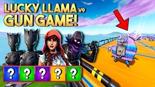 LUCKY LLAMA GUN GAME v9! - Fortnite Creative met Harm, Eva & Jacco (Nederlands)