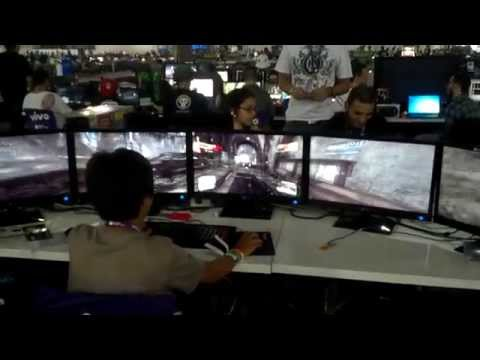 Rodando Crysis 3 com 5 monitores na Campus Party 2013