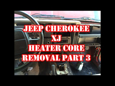 JEEP CHEROKEE XJ HEATER CORE REMOVAL PART 3