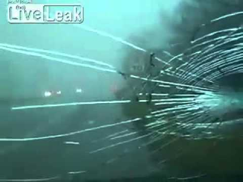 Baseball Sized Hail Damages Van (Henryville,Indiana) Raw Amateur Footage