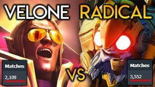 EPIC 2000 Invoker vs 3000 Tinker Matches Spammer Gods VeLoNe vs Radical Dota 2
