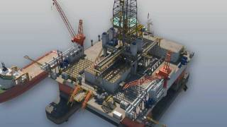 Oil and Gas - 3D Animation - Drilling Rig