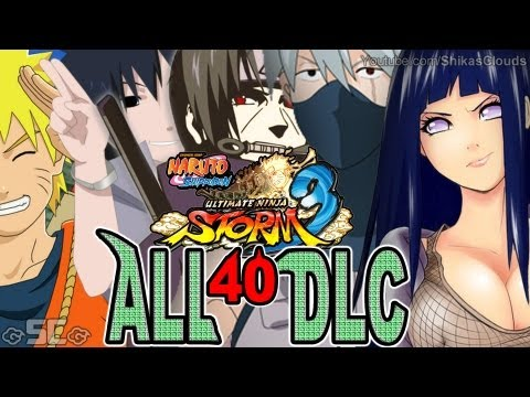 All 40 Alternate DLC Costumes!   NARUTO STORM 3【FULL HD 1080p】★