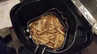 Pulling the Hand Cut French Fries out of the 14lb Butterball Turkey Fyer
