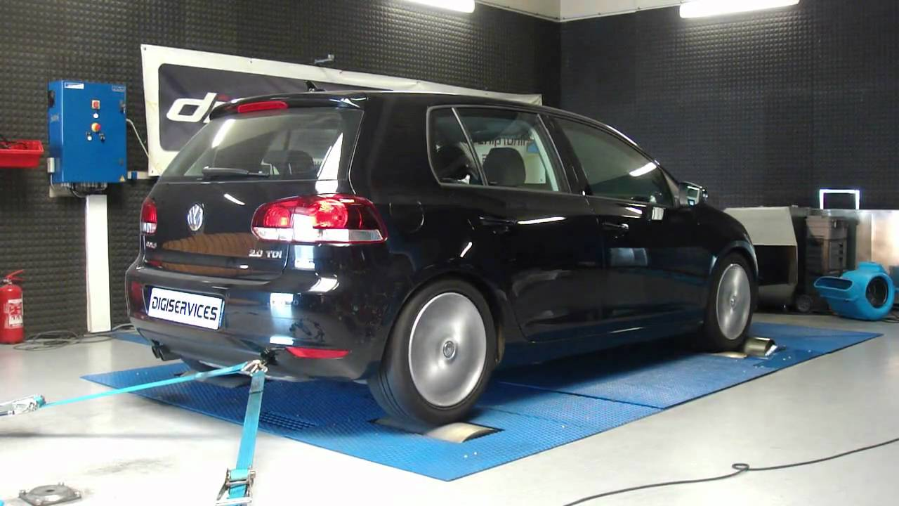 digiservices vw golf 6 tdi 140 185cv dyno youtube. Black Bedroom Furniture Sets. Home Design Ideas