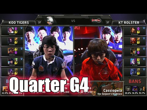 KT Rolster vs KOO Tigers | Game 4 Quarter Finals LoL S5 World Championship 2015 | KT vs KOO G4
