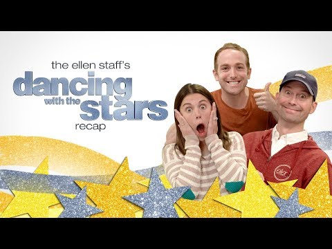 Ellen's Staff Celebrates 'Dancing with the Stars' Trio Night in the Cube