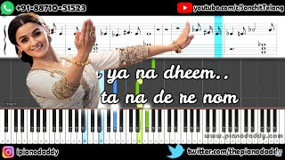 Ghar More Pardesiya (Kalank) Line By Line Piano Lesson ~ Piano Daddy