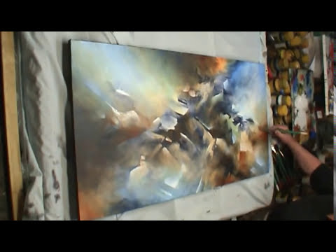 painting 'the Edge' Modern contemporary abstract art Mix Lang How to DEMO