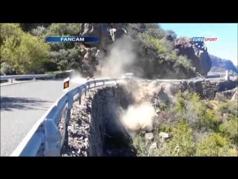 Kubica - On Board - Crash In Rally Islas Canarias. Wypadek Kubicy Na Rajdzie Wysp Kanaryjskich.