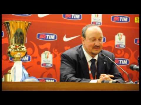 Roma - Il Napoli vince la Coppa Italia, 3-1 alla Fiorentina - Benitez e De Laurentis (03.05.14)