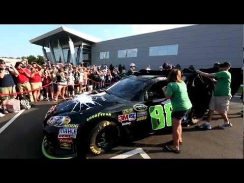 BATMAN Movie THE DARK KNIGHT RISES - DALE EARNHARDT JR. UNVEILS WINNING MOUNTAIN DEW RACE CAR