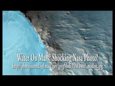UFO Sightings Water Discovered On Mars? Shocking Nasa Photo! Sept 2014