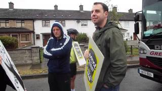 Gardai trying to remove picket on Greyhound SCABS