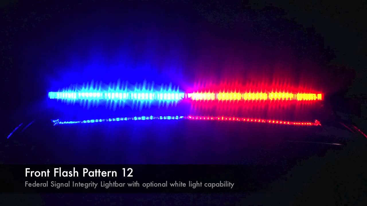 Federal Signal Integrity Lightbar Flash Patterns With